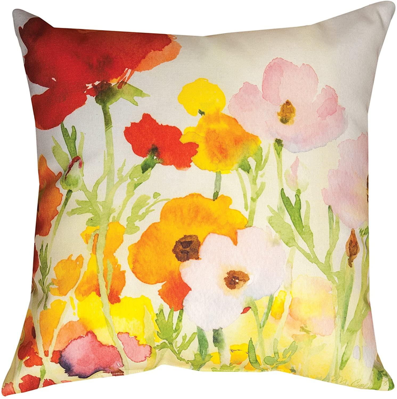 KensingtonRow Home Collection Throw Pillows - Poppy Field Indoor Outdoor Pillow - 18