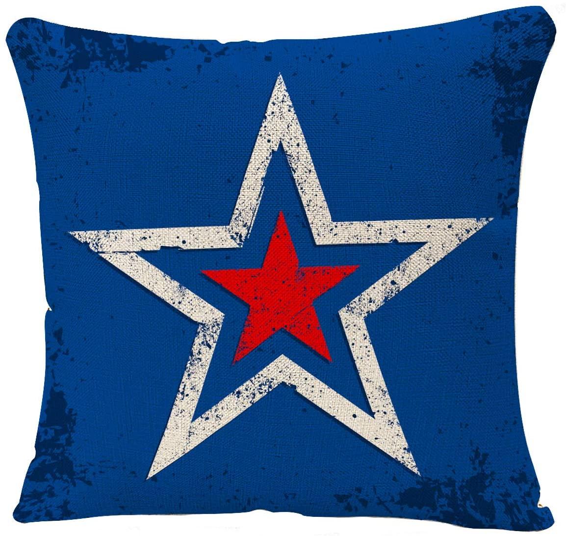 YGGQF Throw Pillow Cover Vintage America Home Decor Us Star Decorative Pillow Cushion Cover Kitchen Garden Sofa Bedroom Car Living Room Pillowcase 18 x 18 Inch