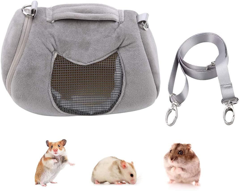 Wontee Hamster Carrier Bag Portable Outdoor Travel Handbag with Adjustable Single Shoulder Strap for Hamster Small Pets
