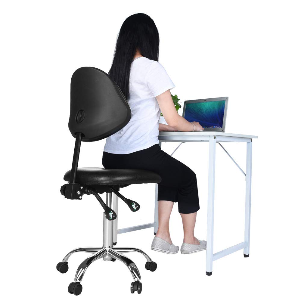 Modern Rotatable Lifting Chair Office Chair with Wheel Adjustable Backrest Moveable Computer Chair Home Study Stool