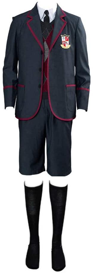 Pajadar Academy School Uniform,The Umbrella School Uniform Set Cosplay Costume Outfit for Women Men,Halloween Cosplay Costume