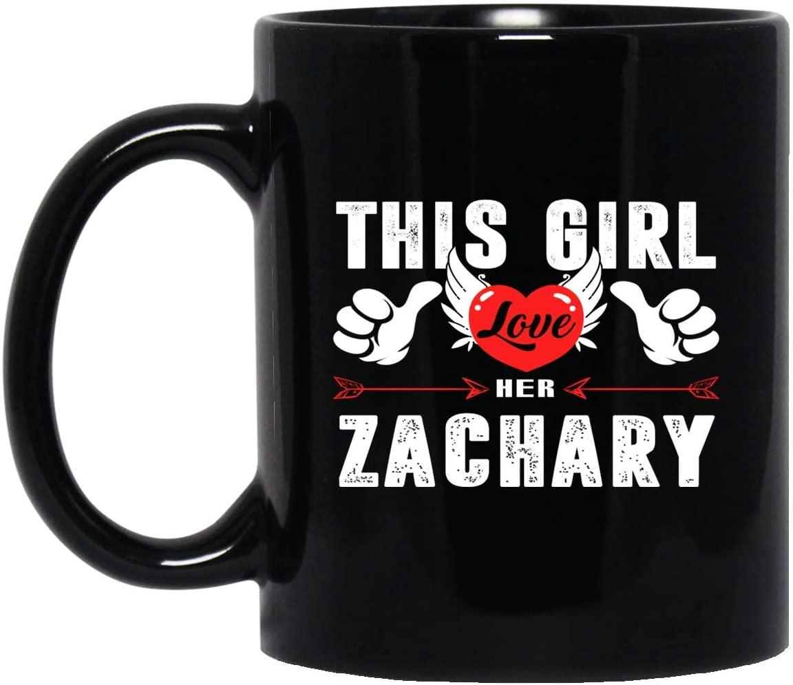 Womens ZACHARY name gift - This Girl Loves Her ZACHARY Name Mug 11oz