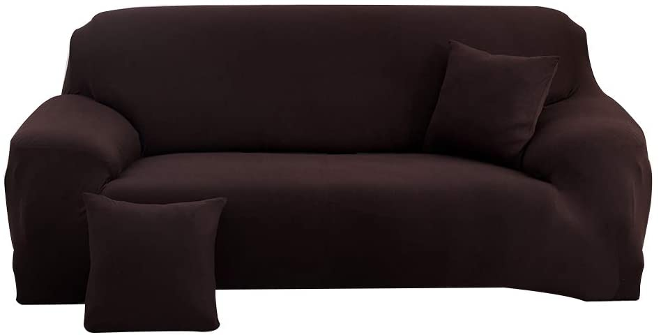 MeetEco Couch Covers High Stretch Sectional Sofa Slipcovers Couch Furniture Protector - 1 Piece Couch Cover for Living Room & Dogs,4 Seater Sofa