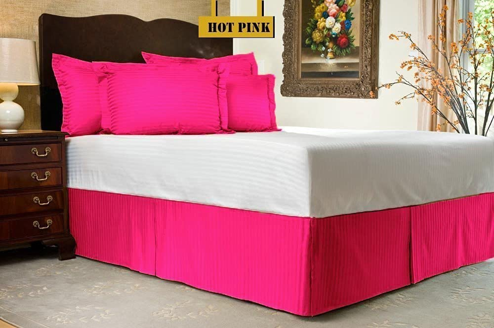 Zoom Collection Hotel Beddings 850-Thread-Count 100% Egyptian Cotton 1 Piece Bed Skirt with 11