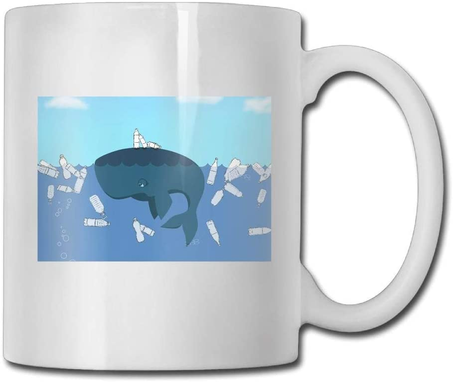 Whale Bottle Funny Coffee Mug Cool Coffee Tea Cup 11 Ounces Perfect Gift for Family and Friend