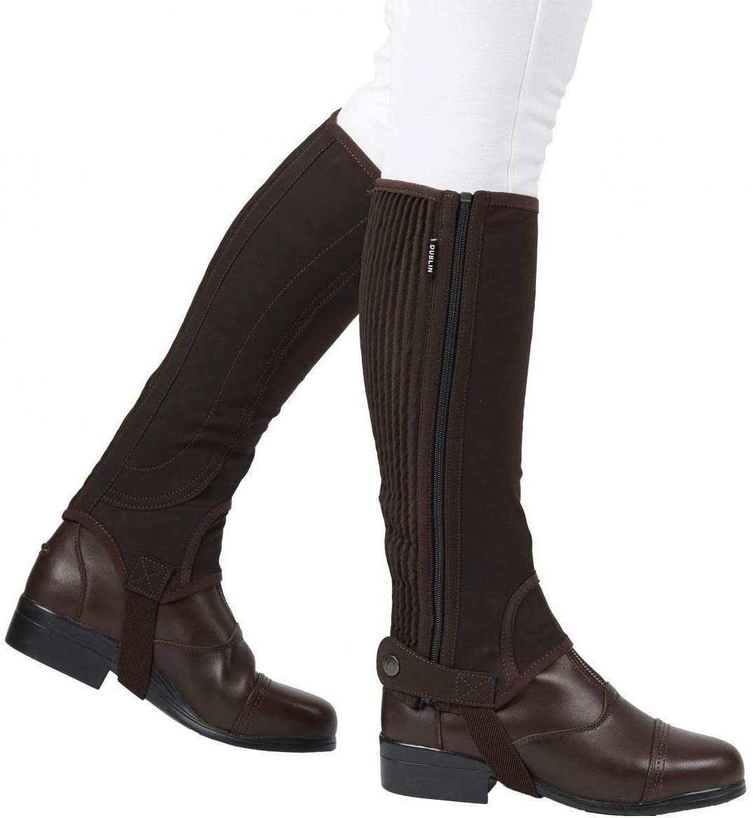 Dublin Adult Easy-Care Half Chaps II Brown Medium