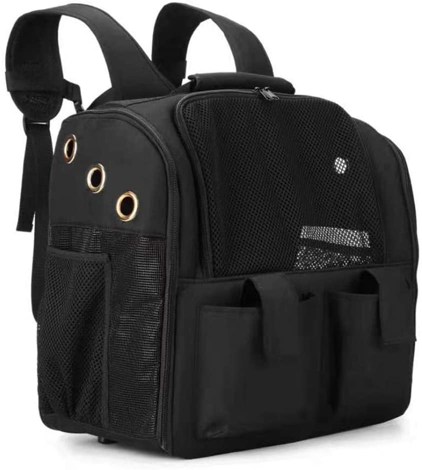 DONGKER Pet Carrier Backpack, Pet Backpack Portable Capsule Space with Breathable Window Cat Dog Carrier Pet Product
