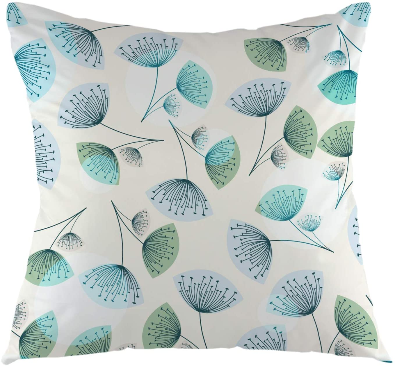 oFloral Dandelion Throw Pillow Cover Square Cushion Case for Sofa Couch Car Bedroom Living Room 18