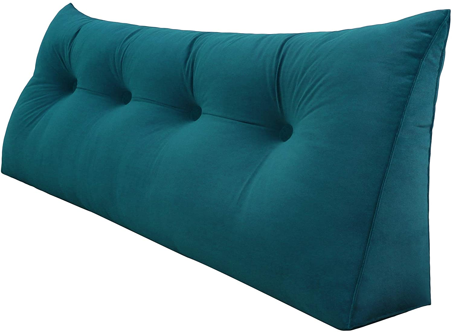 Roner Large PP-Cotton Filled Triangular Wedge Cushion Bed Backrest Positioning Support Upholstered Headboard Sofa Bed Daybed Reading Pillow Removable Washable Cover 47 Inches Royal Blue