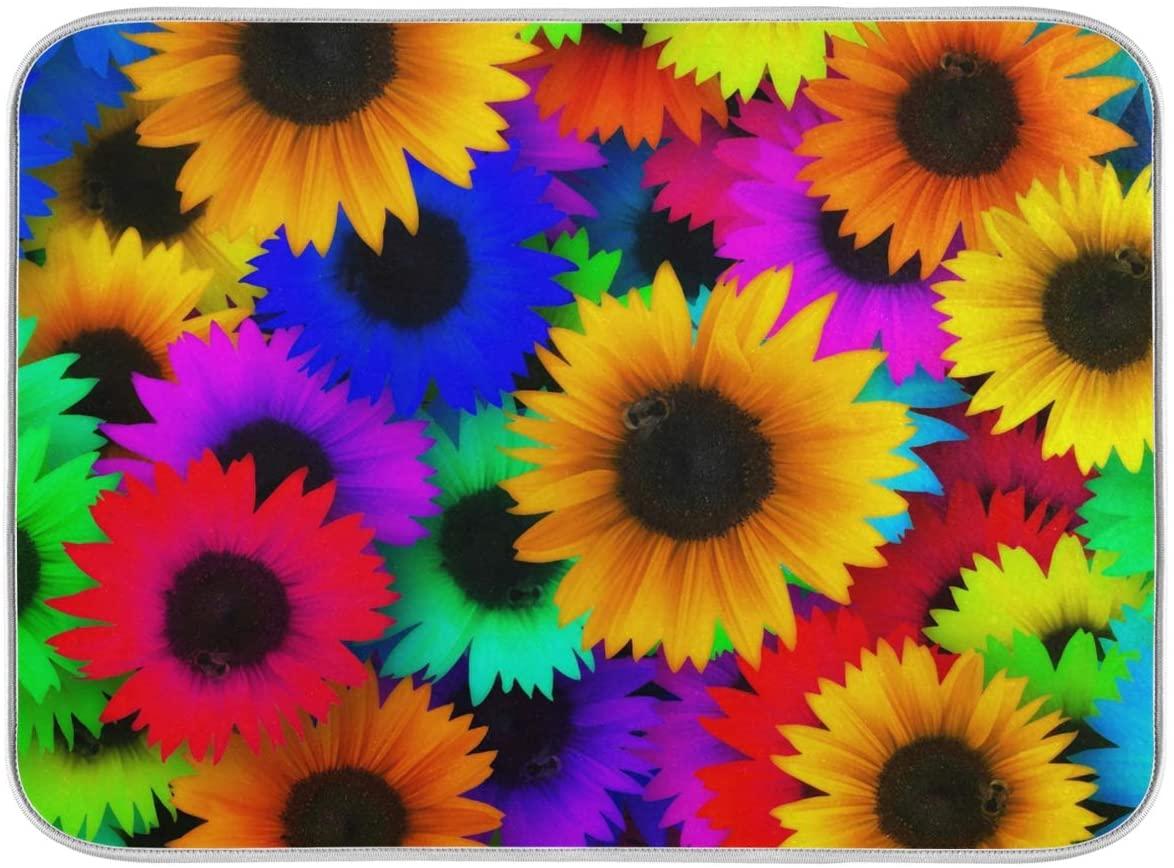 Sunflower Dish Mat 24