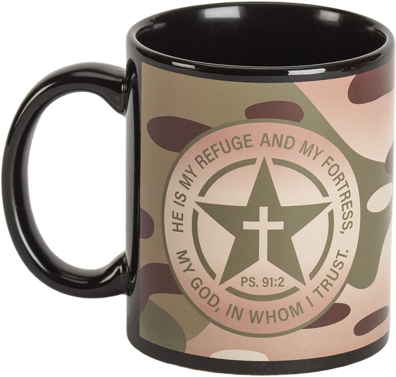 Refuge Fortress Military Camo 11 ounce Ceramic Novelty Coffee Mug