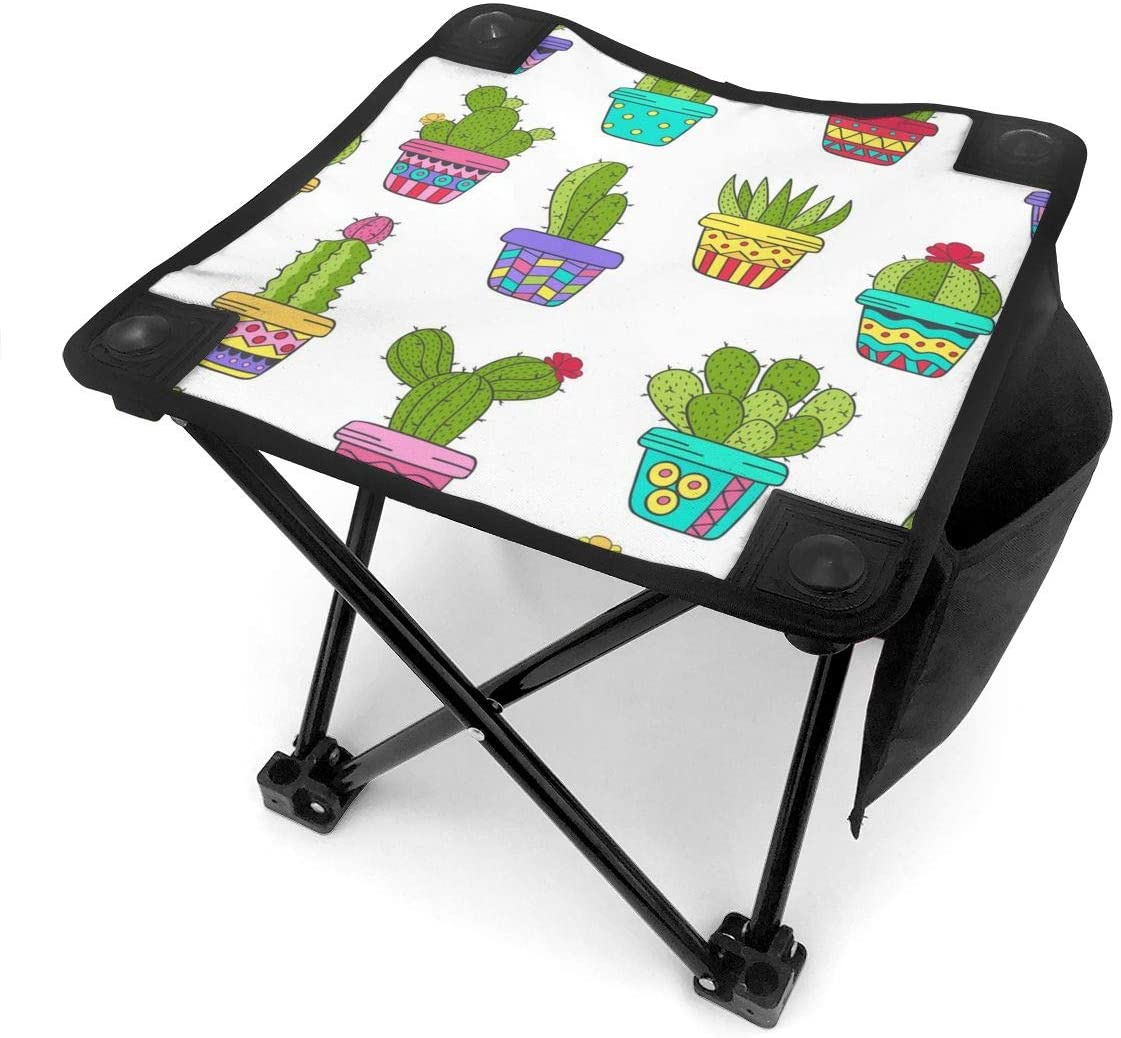 Cactus Lightweight Portable Camping Stool Folding Chairs Outdoor Fold Up Chairs for Camping Fishing Hiking Gardening and Beach, Camping Seat with Carry Bag
