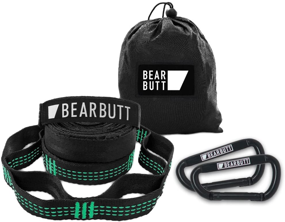 Bear Butt Kodiak Hammock Straps - 20 Feet Long - Holds 1000 Pounds from Our Extra Reinforced Triple Stitching - Get Our Hammock Tree Straps - Start Up Company