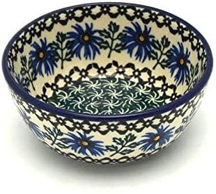 Polish Pottery Bowl - Ice Cream/Dessert - Blue Chicory