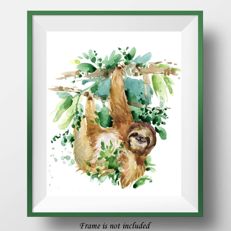 7Dots Art. Animals. Watercolor Art Print, Poster 8
