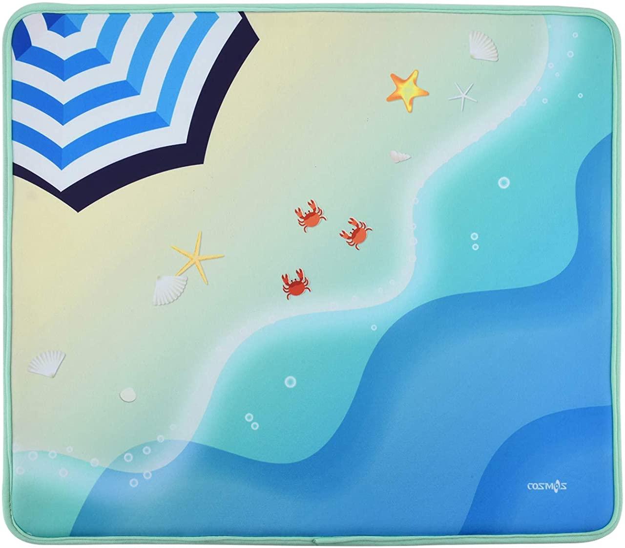 CM Multifunction Soft Neoprene Swimming Pool Mat Poolside Seating Mat Pool Cushion Pad Beach Mat for Beach Swimming Pool, 18 x 15.5 inches