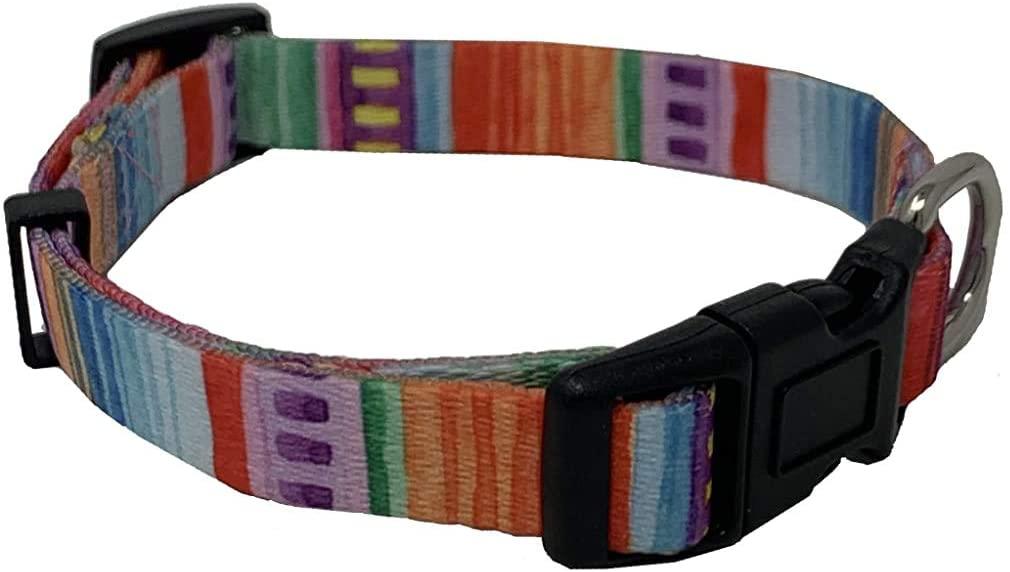 Serape Dog Collar for Small Medium and Large Dogs. Bohemian Dog Collar. Puppy Collar for Small Dogs.