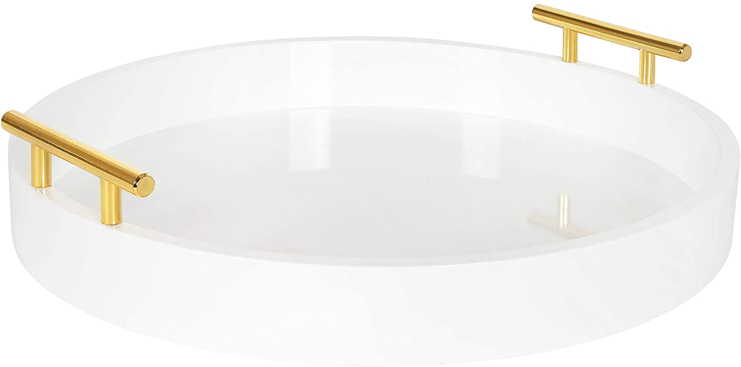 Kate and Laurel Lipton Modern Round Tray, 18