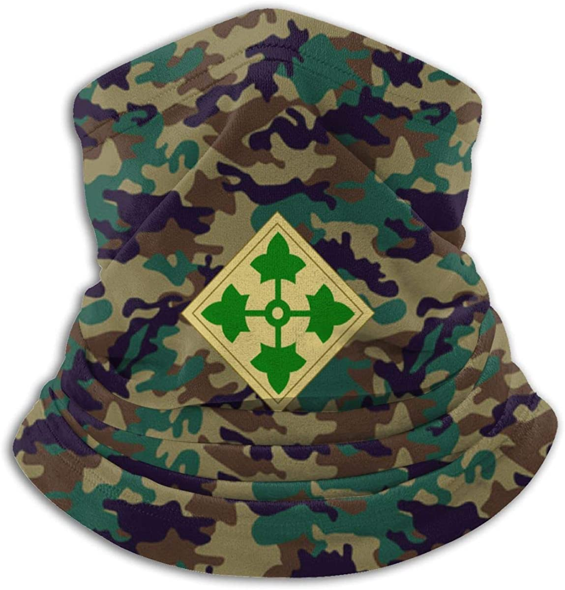 U.S. Army 4th Infantry Division Outdoor Mouth Mask Windproof Sports Face Mask Dust Shield Scarf Men Woman Neck Warmer Bandana