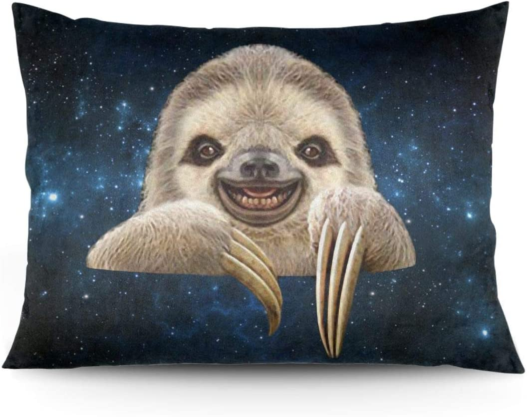 N/P Pocket Sloth Printed Rectangle Pillowcases Pillow Cover Without Pillow Inserts/Core 20x26 Inch (50cmx 66cm)