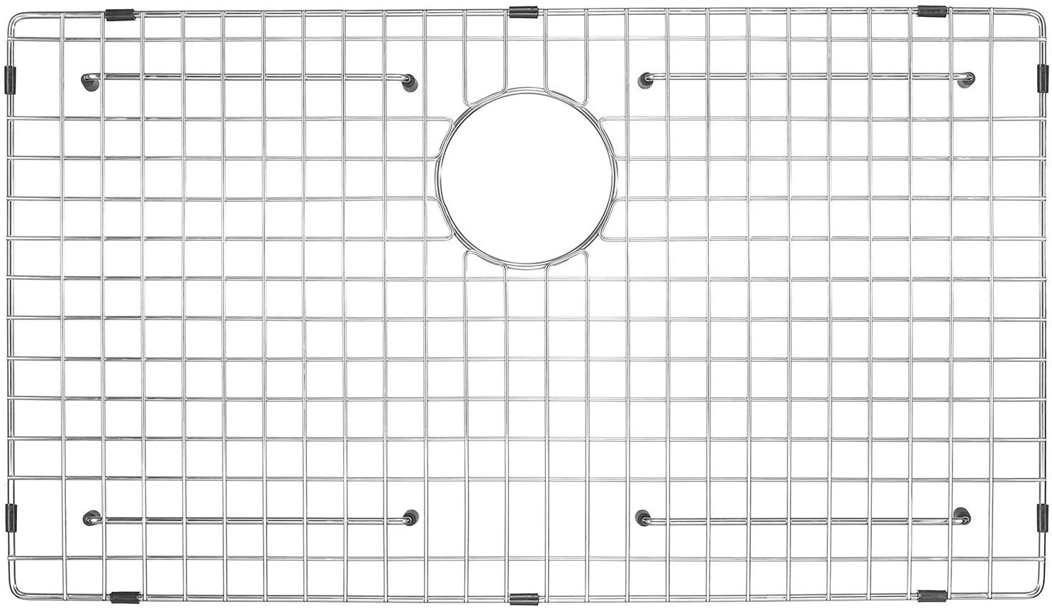"Serene Valley Sink Bottom Grid and Kitchen Sink Protector NDG3021, 304 Premium Stainless Steel, dim 26 3/4"" x 15 11/16"""