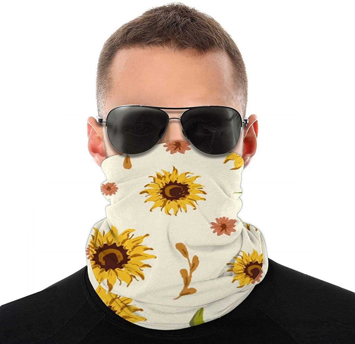Multifunctional Balaclava Seamless Neck Gaiter Face Scarf Sunflower Bandana For Women Men