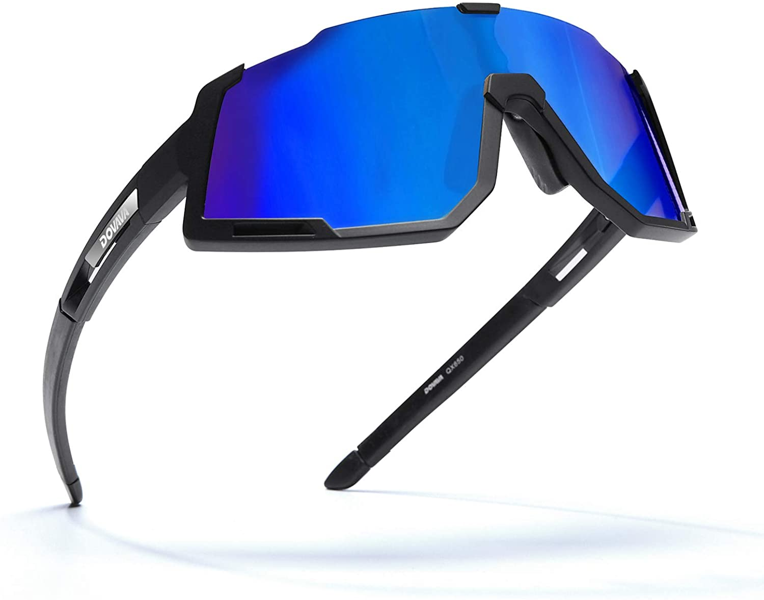 DOVAVA Polarized Cycling Sunglasses for Men and Women, UV400 Sports Biking Glasses TR90 Frame with 3 Interchangeable Lenses