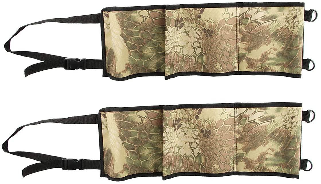 Ruiqas Concealed Seat Back Gun Rack Sling Pair, Storage Organizer for 3 Hunting Rifles/Shotguns in Car Truck SUV Pickup