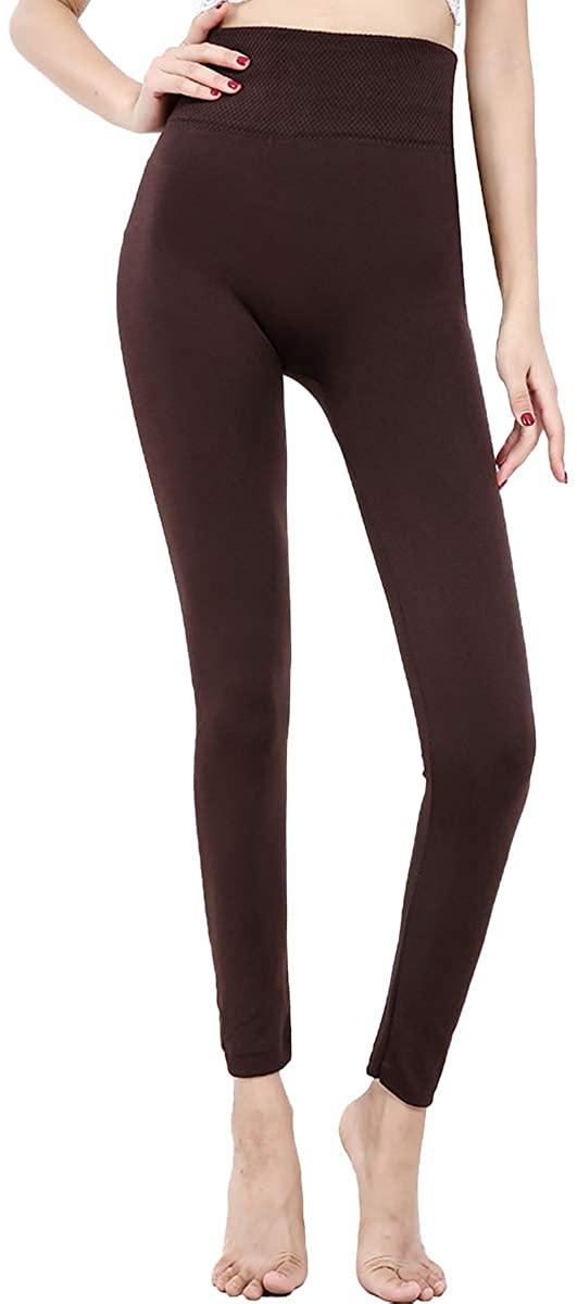 GAILANG Women's Fleece Lined Leggings –High Waist Soft Pants-Winter Thermal Leggings Seamless Leggings