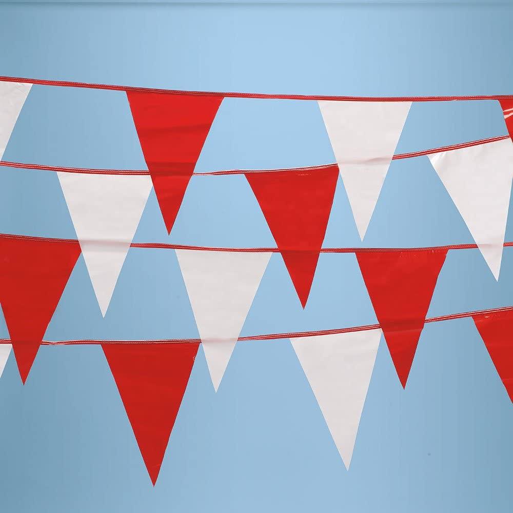 SSWBasics Red & White Pennant String Flags