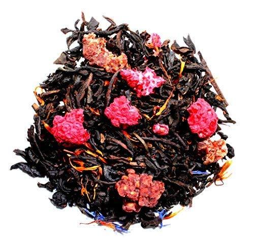 Nelson's Tea - Raspberry Earl Grey - Black Loose Leaf Tea - Black tea, dried raspberries, and safflower petals - 4 oz.