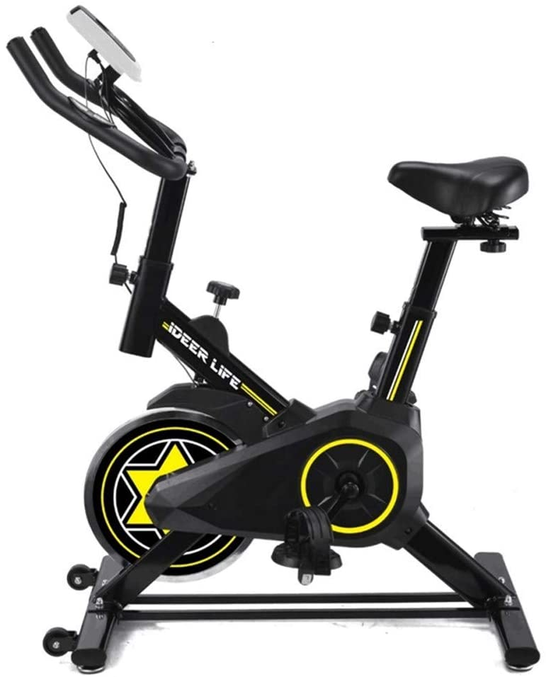 GOODTRADE8 (US Stock) Indoor Bicycle Exercise Bike Fitness Equipment,22lbs Flywheel Stationary Cycling with Tablet Stand and Comfortable Cushion Workout Machine Home Gym Equipment