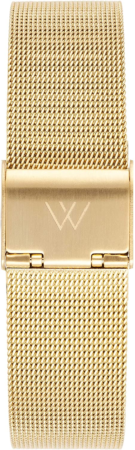 WRISTOLOGY Metal Quick Release Watch Bands - Replacement Strap for Mens or Womens Choose Color and Width 14mm, 16mm, 18mm, or 20mm