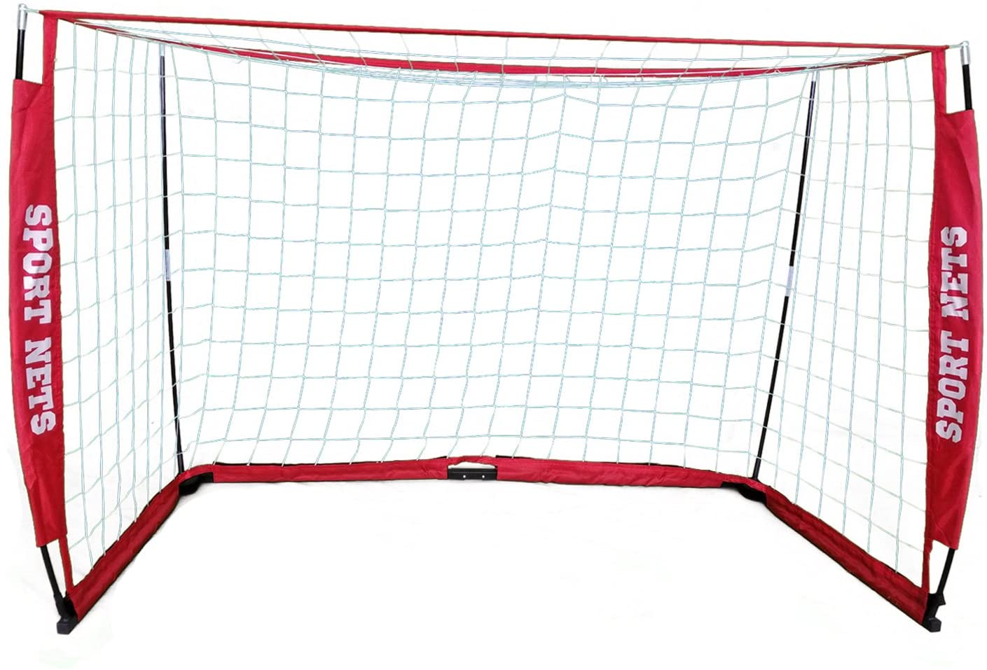 Sport Nets Portable Soccer Goal - Bow Frame Soccer Net with Carry Bag -Available is 4 Sizes 4' X 6' - 4' X 8' - 6' X 12-7 x 14 Feet