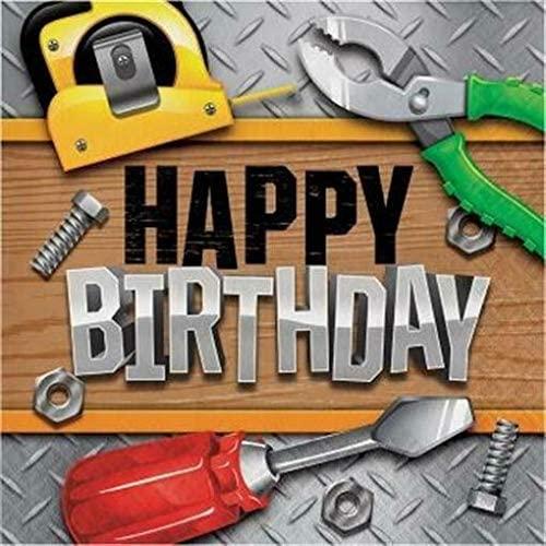 Handyman Tools Happy Birthday Lunch Napkins 16 Pack Boy Birthday Party