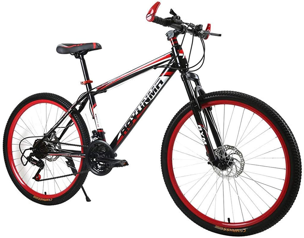 26in Folding Mountain Bike, Full Suspension Road Bikes with Disc Brakes, 21 Speed MTB Bikes for Men/Women Tigivemen
