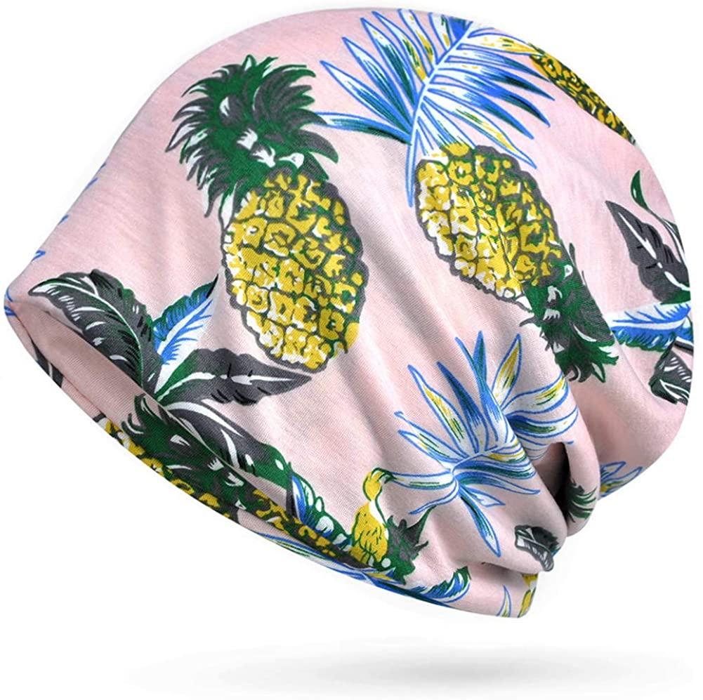 Glamorstar Floral Lace Beanie Hat Chemo Cap Stretch Slouchy Turban Headwear