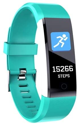 """GPCT 0.96"""" Bluetooth Wireless Activity Tracker with Heart Rate Sensor (Green)"""