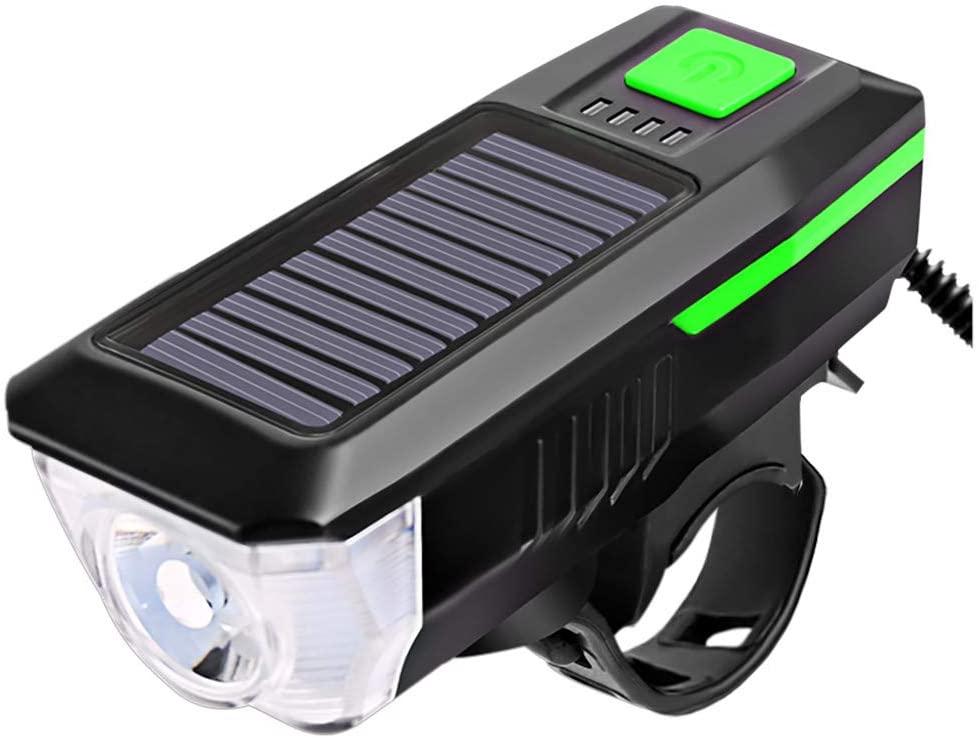 justHIGH Solar Power/USB Rechargeable Bike Light,Waterproof Durable Mountain & Road Bike Lights