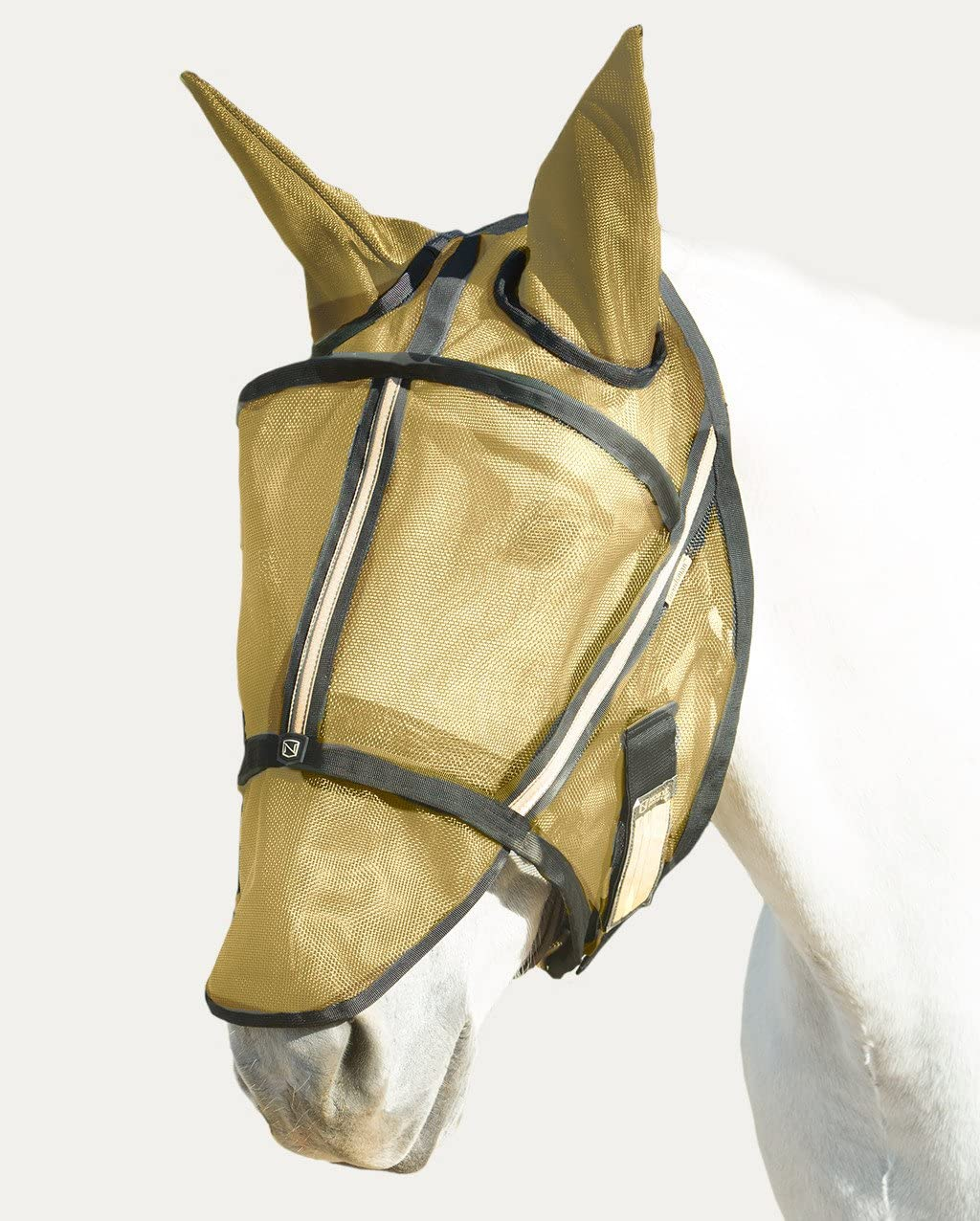 Noble Outfitters Guardsman Fly Mask with Ears Noble Gold X-Large