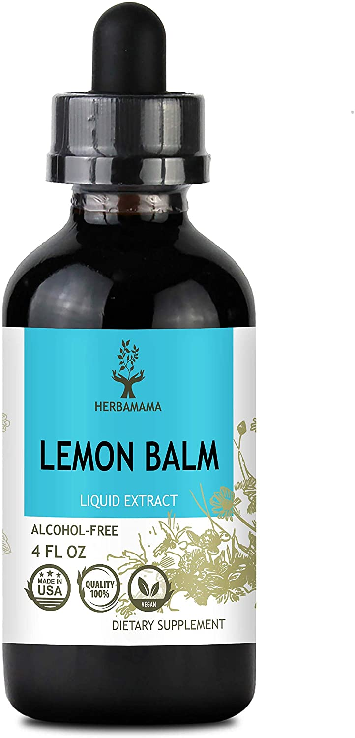 Lemon Balm Liquid Extract 4 fl oz | All-Natural Dietary Supplement | Anxiety and Stress Relief | Mood Booster | Sleep Aid | Non-GMO