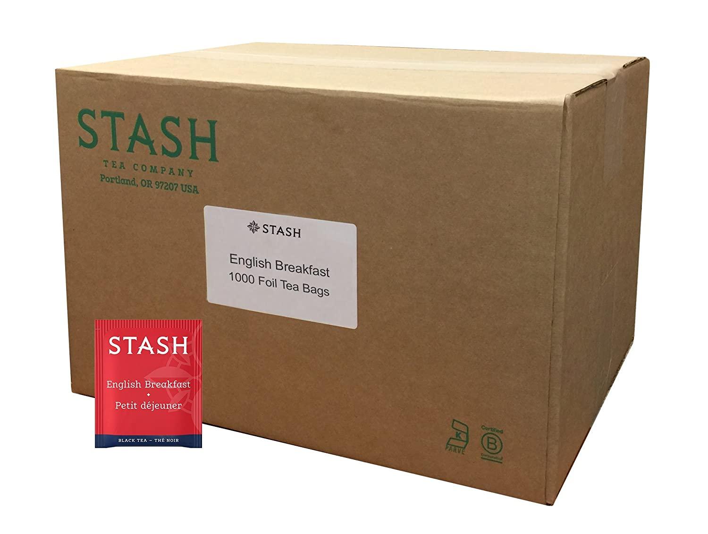 Stash Tea English Breakfast Black Tea 1000 Count Box of Tea Bags in Foil