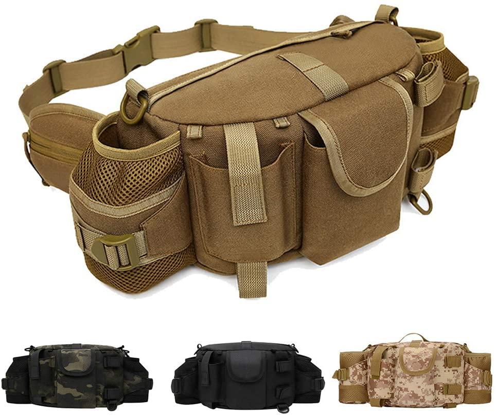 ANTARCTICA 1050D Military Tactical Waist Pack Bag Fanny Pack Sling Bag Range Bag EDC Camera Bag with Shoulder Strap for Outdoor,Sports,Jogging,Walking,Hiking,Cycling
