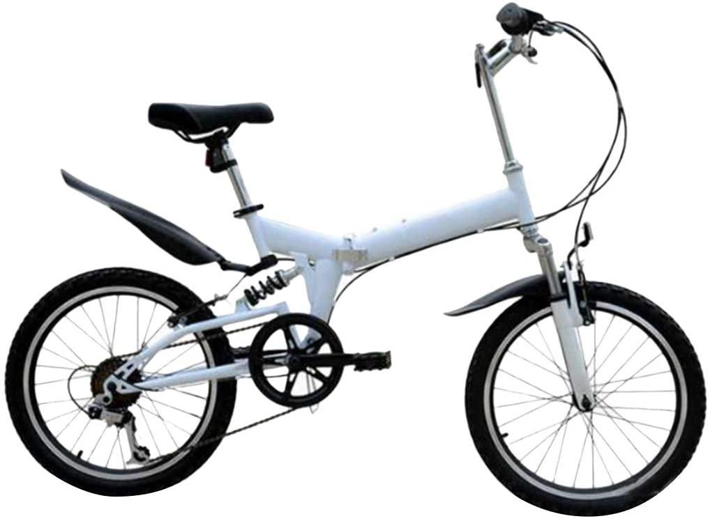 Landscap Folding City Bike Compact Bike Bicycle,Adult Folding Bicycle Student Bike Double Disc Brake Bicycle Folding Bike Outroad Mountain Bike Full Suspension MTB Bike for Men/Women