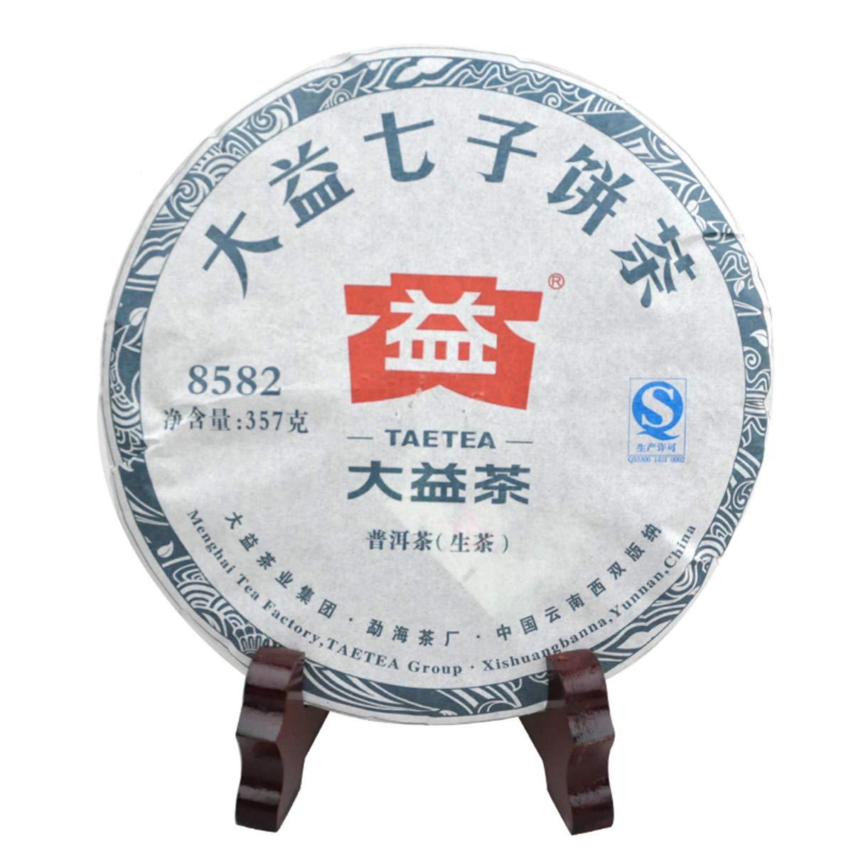 Chinese TAETEA Puerh Raw (Sheng) Dayi Classic Series Yunnan Puer Tea Cake – Original Black Pu'er Gongfu Tea for Weight Loss Health Tea (Mark No. 8582, Aged 2016)