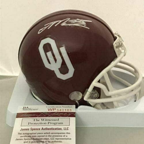 Autographed/Signed JOE MIXON Oklahoma Sooners Football Mini Helmet JSA COA Auto - Autographed College Mini Helmets