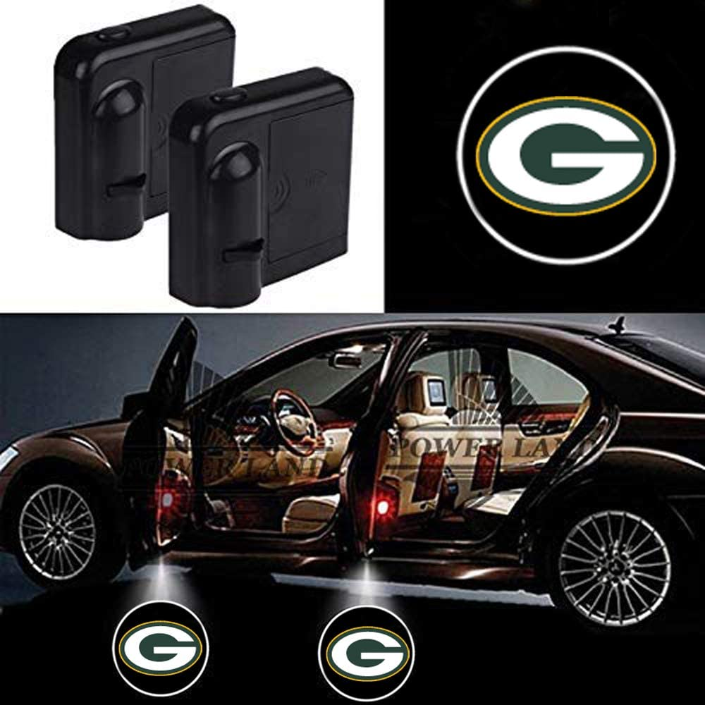 For Green Bay Packers Car Door Led Welcome Laser Projector Car Door Courtesy Light Suitable Fit for all brands of cars