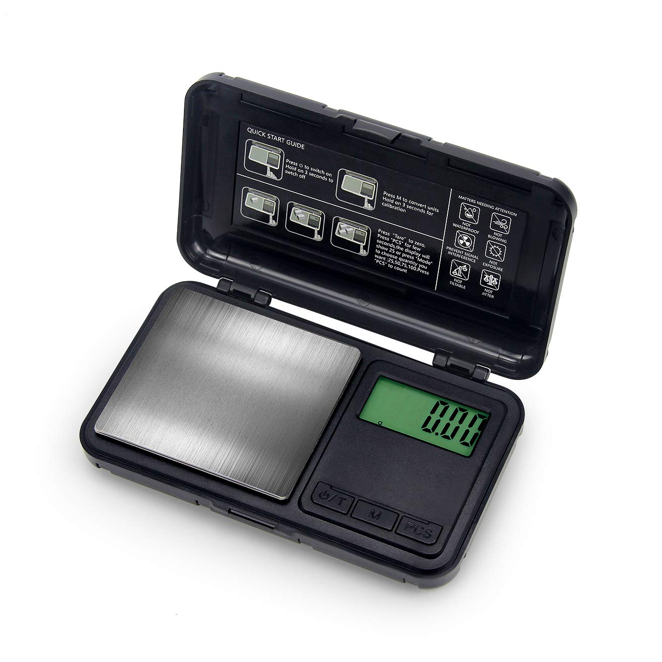 Digital Pocket Scale, Digital Grams Scale, Food Scale, Jewelry Scale Black, Kitchen Scale