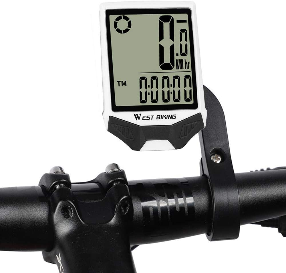 Bicycle Wireless Computer Multifunctional Waterproof LCD Digital Backlight Display Auto Wake Up Bicycle Odometer for Cycling Outdoor