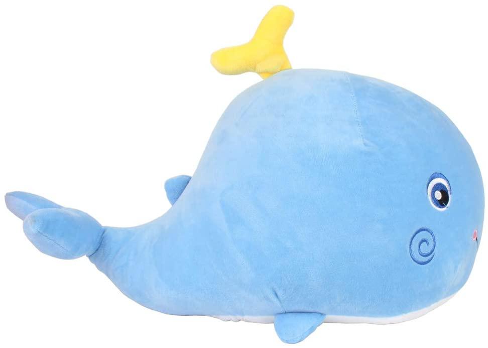 FeiWen Whale Stuffed Animal Cute Plush Toy Very Soft Pillow Children's Birthday (Blue)